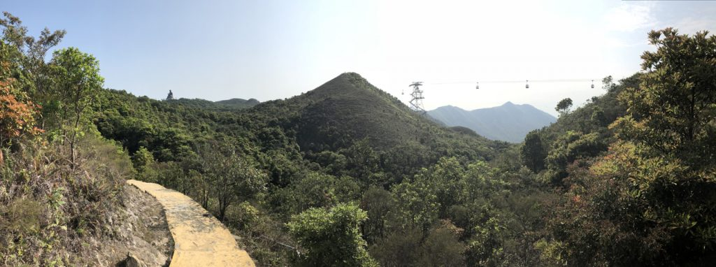 mountain view from ngong ping trail