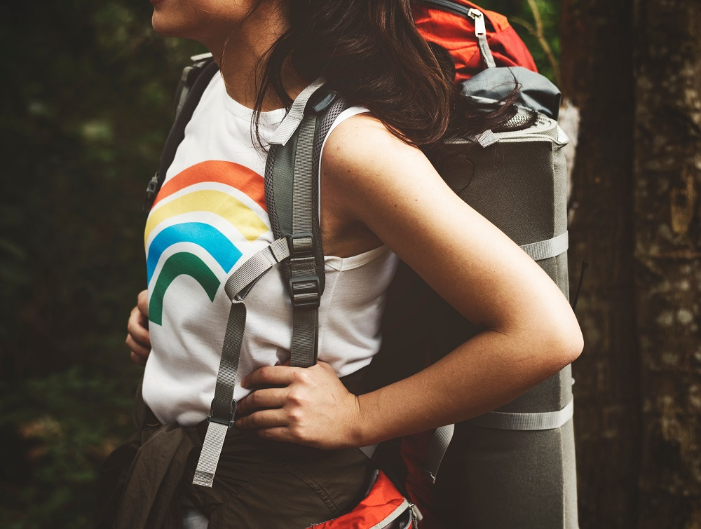 solo female backpacker