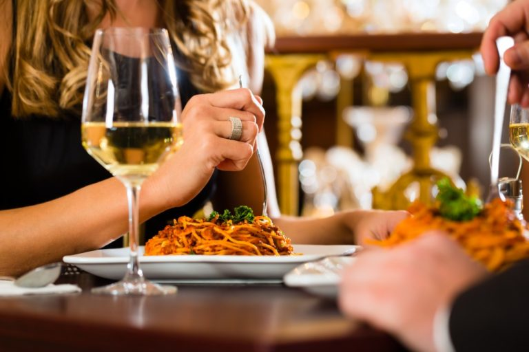 Romantic fine dining date