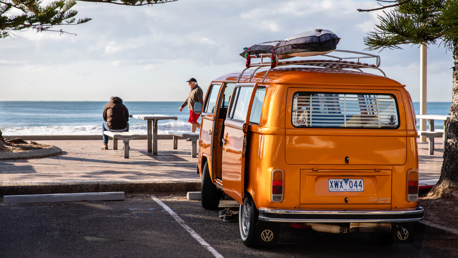 orange travel van
