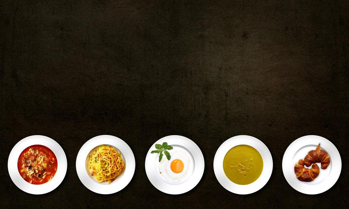 Plated food presentation