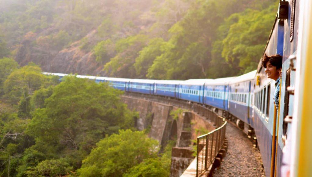moving train goa india