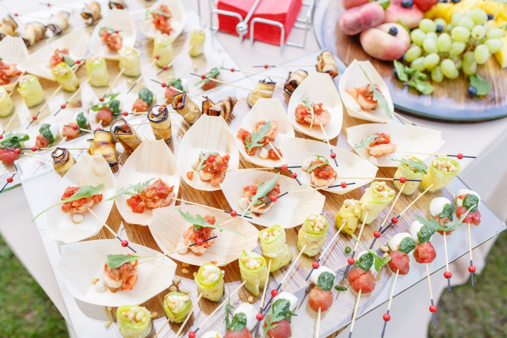 Canape for an outdoor event