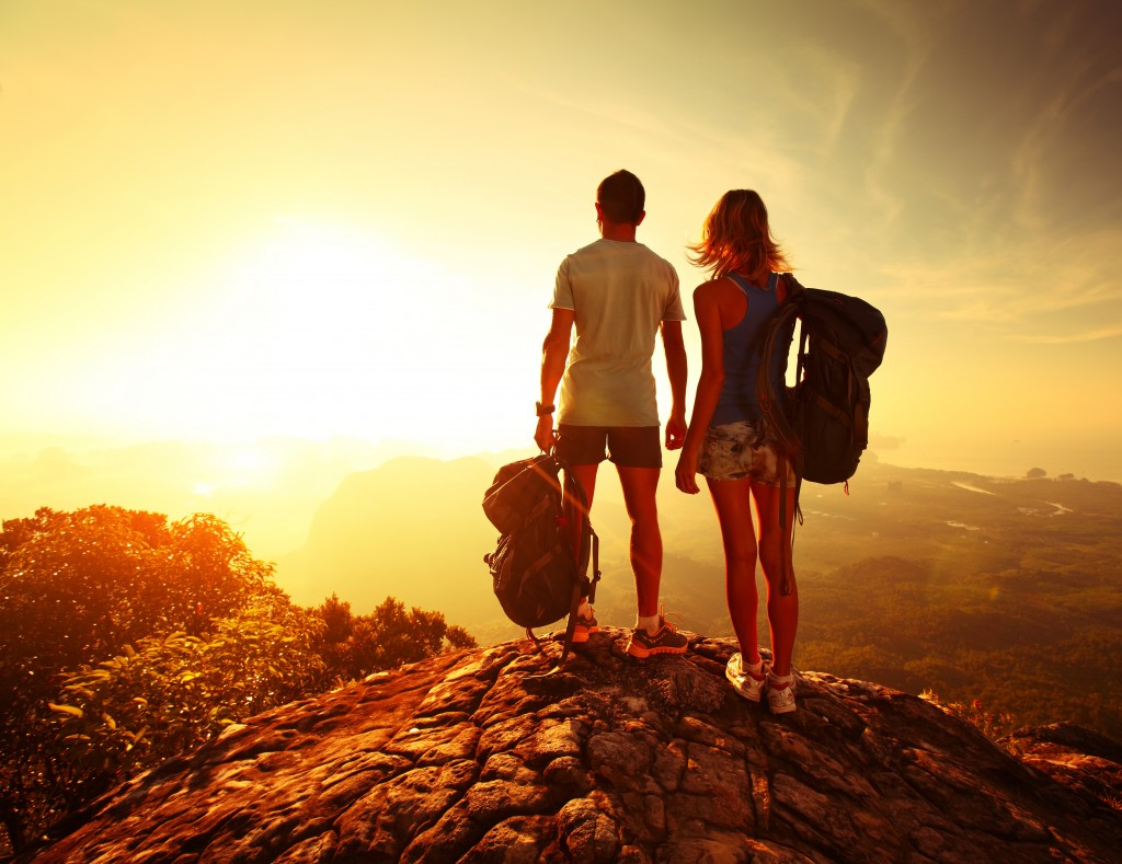 couple on top of a mountain